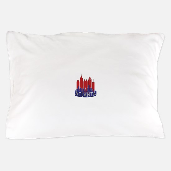 Atlanta Skyline Newwave Patriot Pillow Case