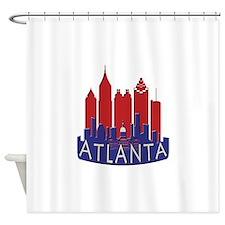 Atlanta Skyline Newwave Patriot Shower Curtain
