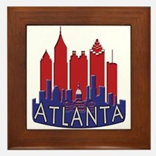 Atlanta Skyline Newwave Patriot Framed Tile