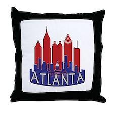 Atlanta Skyline Newwave Patriot Throw Pillow