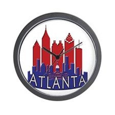 Atlanta Skyline Newwave Patriot Wall Clock