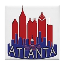 Atlanta Skyline Newwave Patriot Tile Coaster