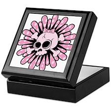 Sweet Pink Skull Keepsake Box