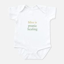 bliss is PRANIC HEALING  Infant Bodysuit