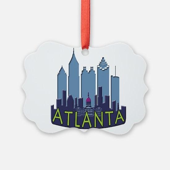 Atlanta Skyline Newwave Cool Ornament