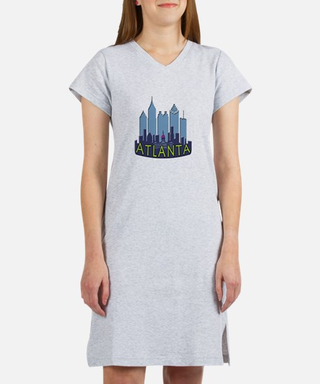 Atlanta Skyline Newwave Cool Women's Nightshirt