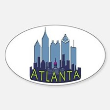 Atlanta Skyline Newwave Cool Bumper Stickers