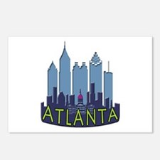 Atlanta Skyline Newwave Cool Postcards (Package of