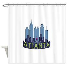Atlanta Skyline Newwave Cool Shower Curtain