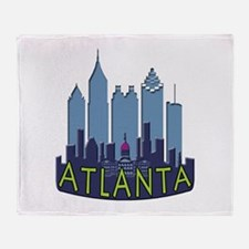 Atlanta Skyline Newwave Cool Throw Blanket
