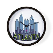 Atlanta Skyline Newwave Cool Wall Clock