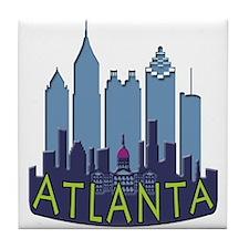 Atlanta Skyline Newwave Cool Tile Coaster