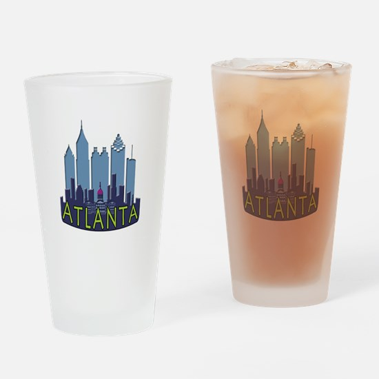 Atlanta Skyline Newwave Cool Drinking Glass