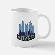 Atlanta Skyline Newwave Cool Small Mugs