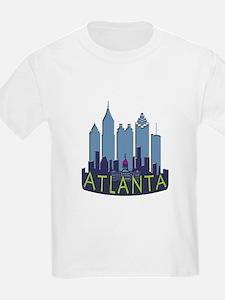 Atlanta Skyline Newwave Cool T-Shirt