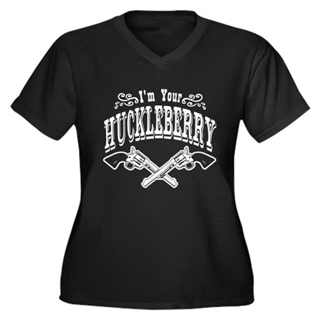 Im Your HUCKLEBERRY! Women's Plus Size V-Neck Dark