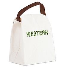 Western, Vintage Camo, Canvas Lunch Bag