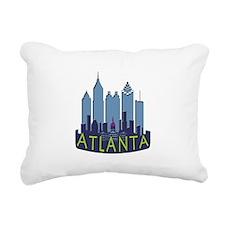 Atlanta Skyline Newwave Cool Rectangular Canvas Pi