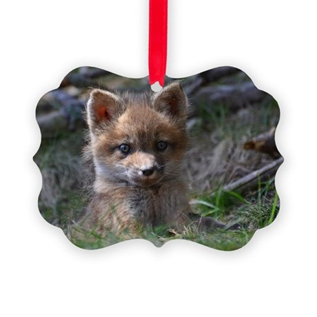 Red fox kit Picture Ornament