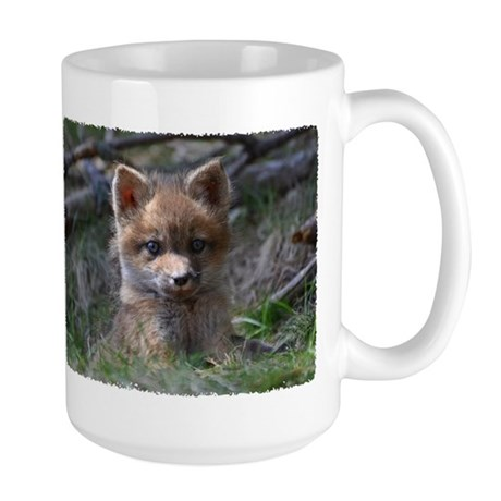 Red fox kit Large Mug