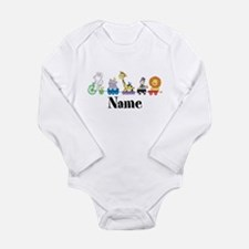 Personalized Noahs Ark Long Sleeve Infant Bodysuit