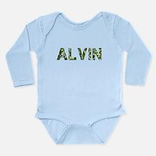 Alvin, Vintage Camo, Long Sleeve Infant Bodysuit