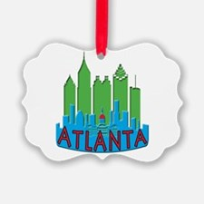 Atlanta Skyline Newwave Primary Ornament