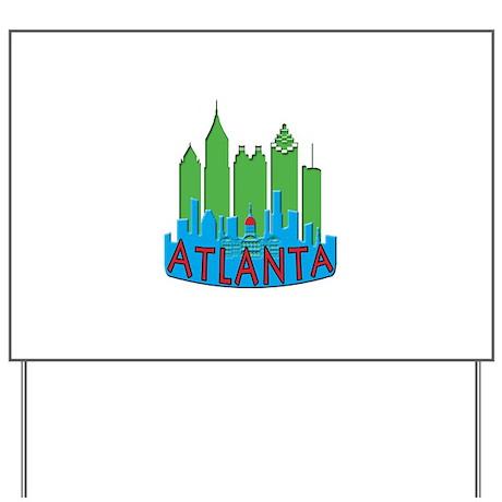 Atlanta Skyline Newwave Primary Yard Sign