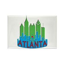 Atlanta Skyline Newwave Primary Rectangle Magnet
