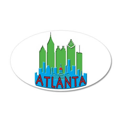 Atlanta Skyline Newwave Primary 20x12 Oval Wall De