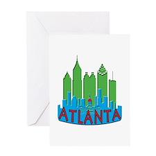 Atlanta Skyline Newwave Primary Greeting Card