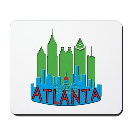 Atlanta Skyline Newwave Primary Mousepad