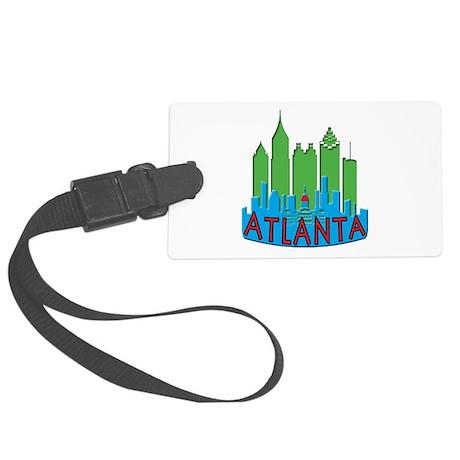 Atlanta Skyline Newwave Primary Large Luggage Tag