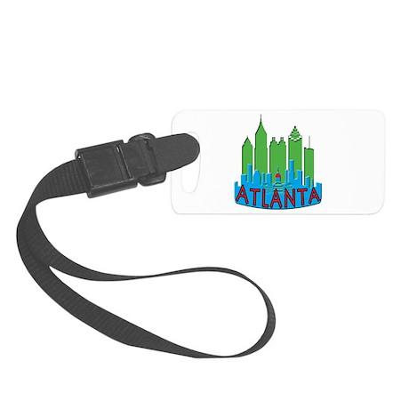 Atlanta Skyline Newwave Primary Small Luggage Tag
