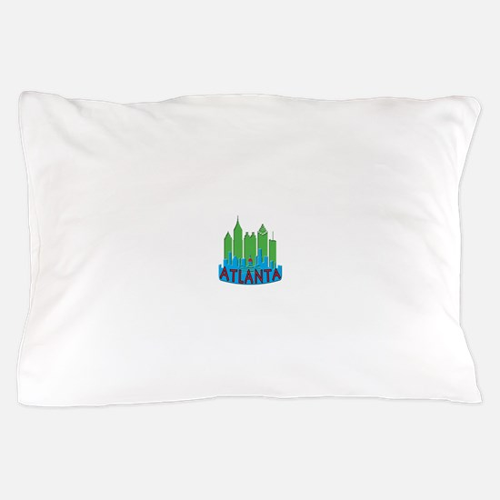 Atlanta Skyline Newwave Primary Pillow Case