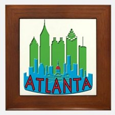 Atlanta Skyline Newwave Primary Framed Tile