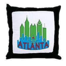 Atlanta Skyline Newwave Primary Throw Pillow