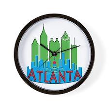 Atlanta Skyline Newwave Primary Wall Clock