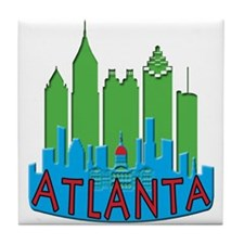 Atlanta Skyline Newwave Primary Tile Coaster