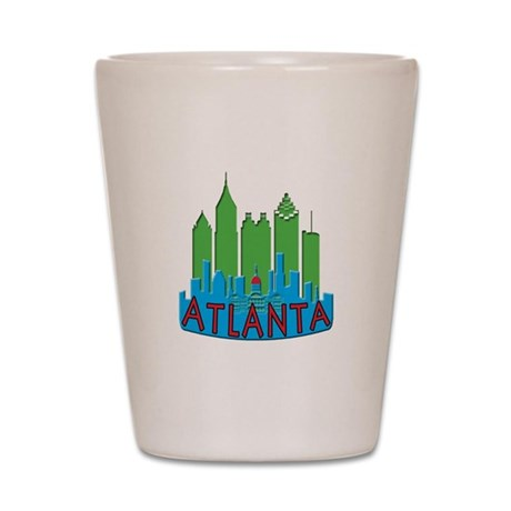 Atlanta Skyline Newwave Primary Shot Glass