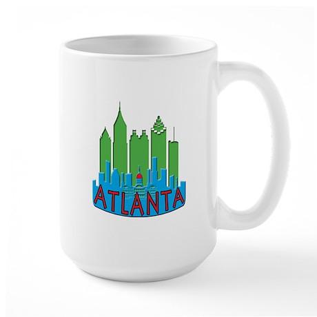 Atlanta Skyline Newwave Primary Large Mug