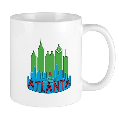 Atlanta Skyline Newwave Primary Mug