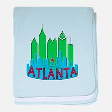Atlanta Skyline Newwave Primary baby blanket