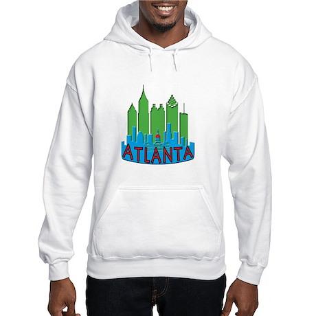 Atlanta Skyline Newwave Primary Hooded Sweatshirt