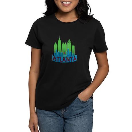 Atlanta Skyline Newwave Primary Women's Dark T-Shi