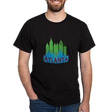 Atlanta Skyline Newwave Primary T-Shirt