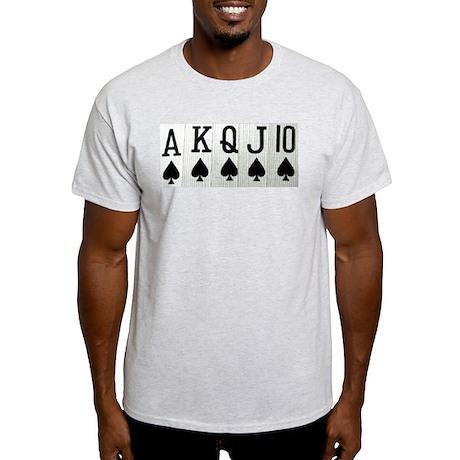 Spade Royal Flush Ash Grey T-Shirt