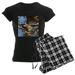 Chickadee in Tree Women's Dark Pajamas
