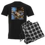 Chickadee in Tree Men's Dark Pajamas