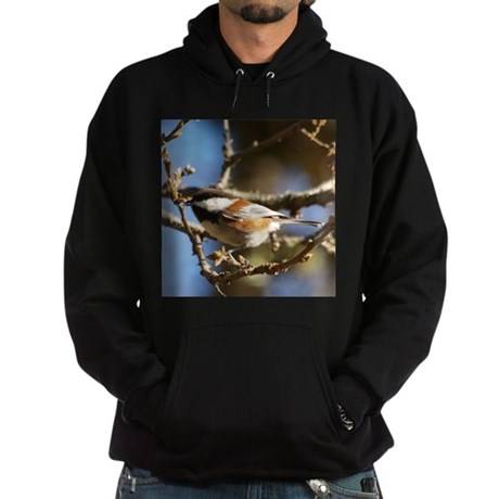 Chickadee in Tree Hoodie (dark)
